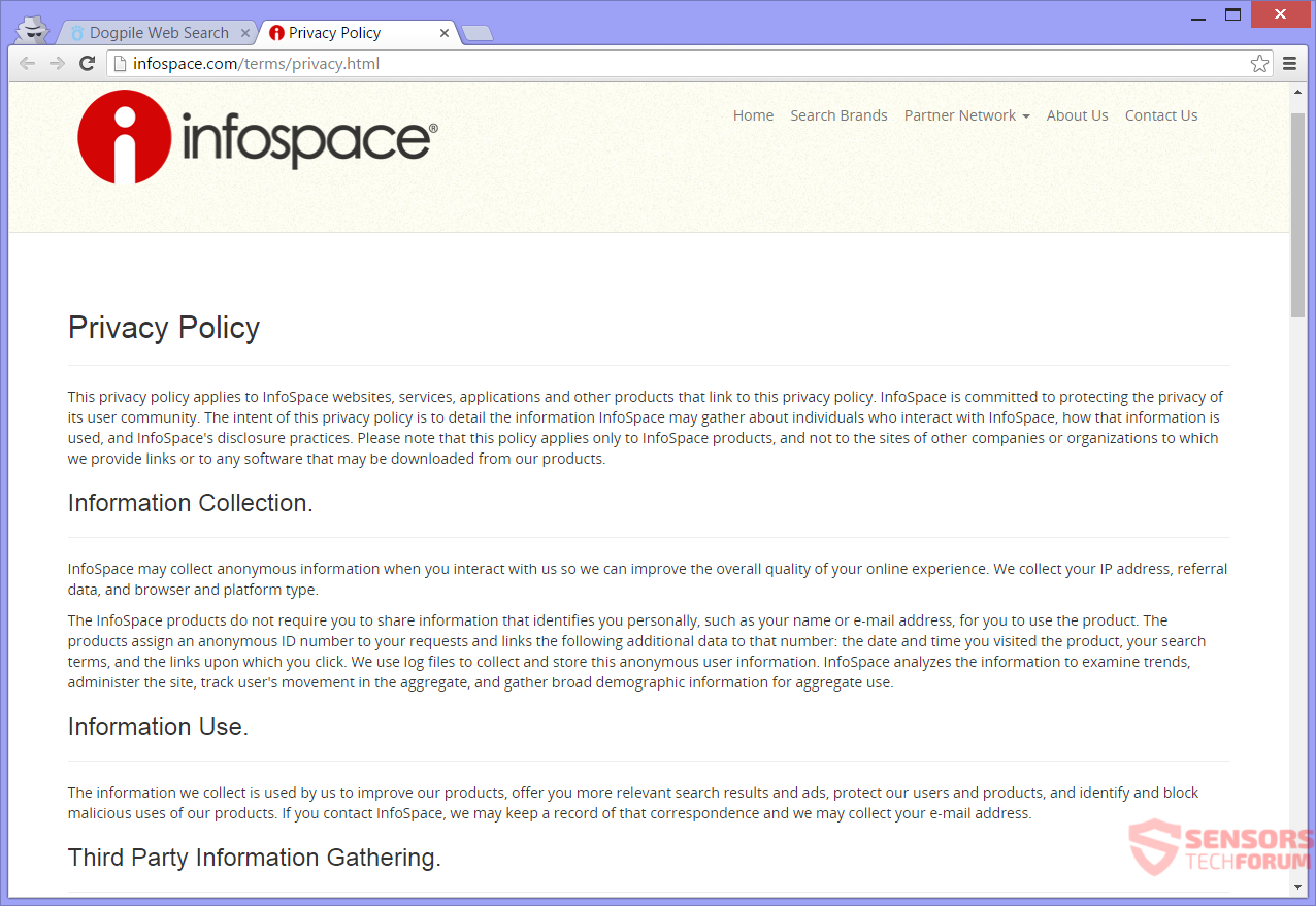 Stf dogpile com dog pile infospace privacy policy