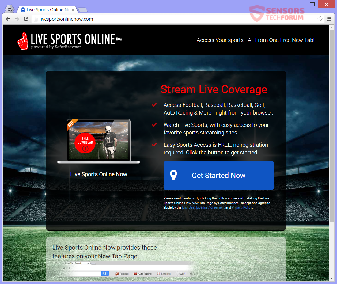 STF-live-sports-online-search-searchlson-com-hijacker-safer-browser-main-site-page