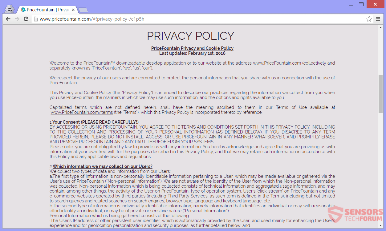 STF-pricefountain-com-price-fountain-adware-ads-privacy-policy