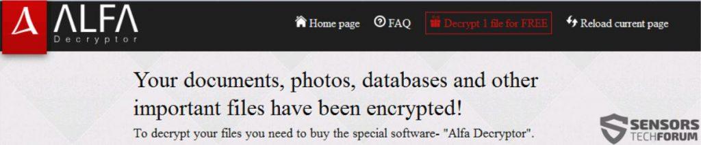 alfa-décrypteur-main-page-sensorstechforum