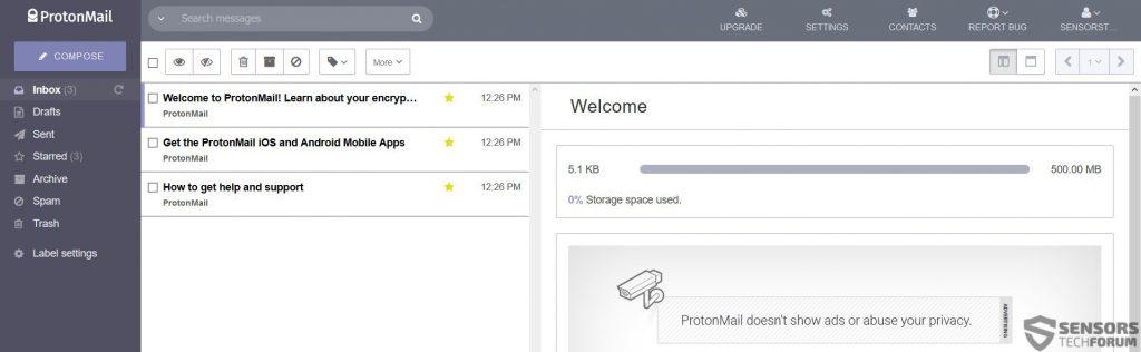 protonmail-interface-sensorstechforum