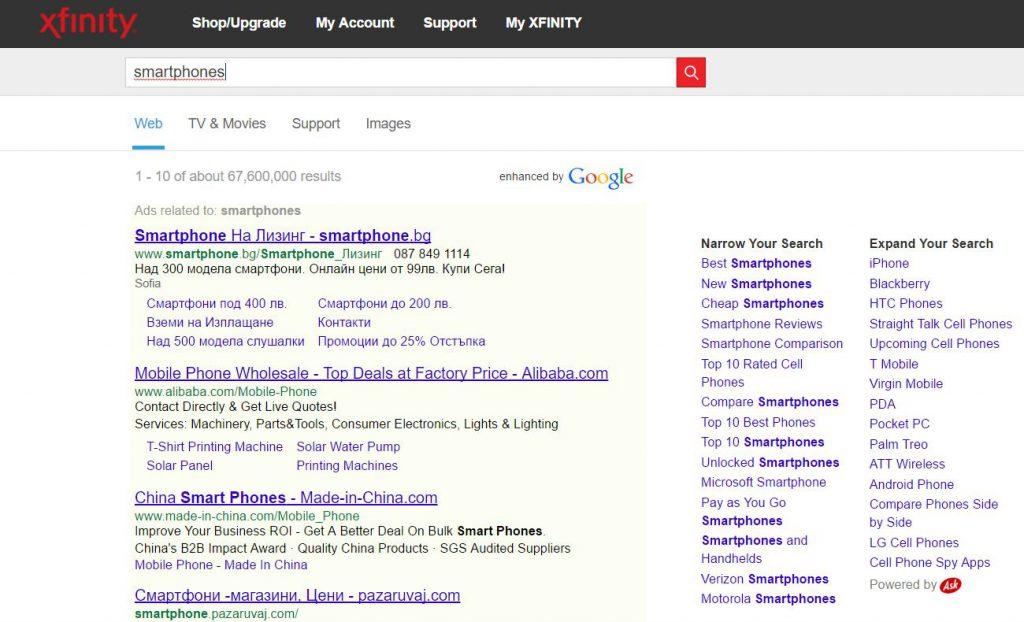 search-xfinity-com-browser-redirects-google-sensorstechforum
