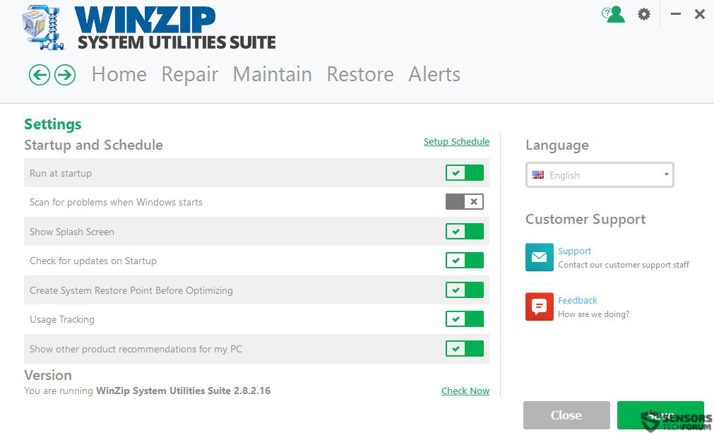 winzip-system-utilities-suite-settings-sensorstechforum