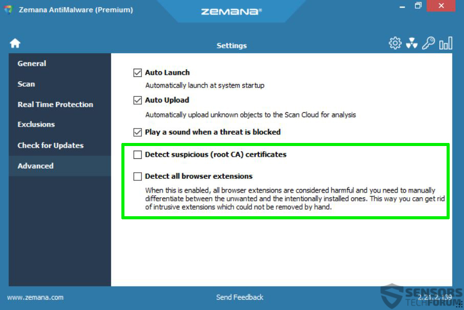 zemana-anti-malware-advanced-settings-sensorstechforum