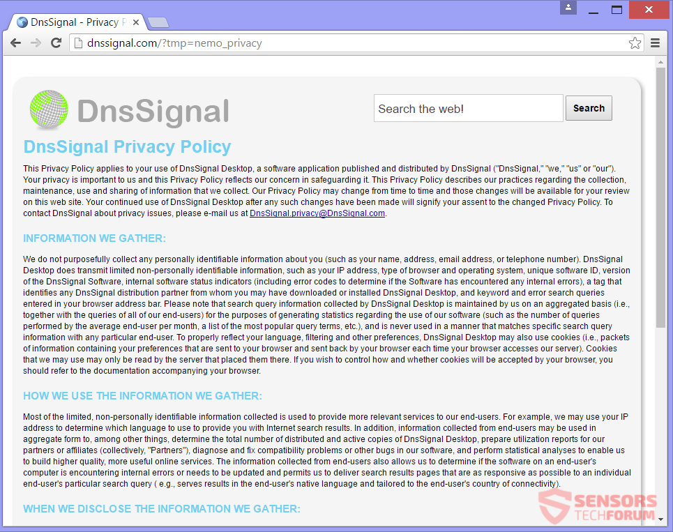 STF-dnssignal-com-dns-signal-browser-hijacker-search-privacy-policy