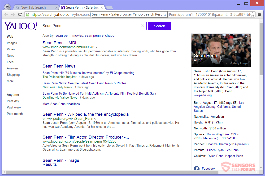 STF-search-classifiedlist-net-classified-list-hijacker-saferbrowser-safer-browser-sean-penn-yahoo-search-results
