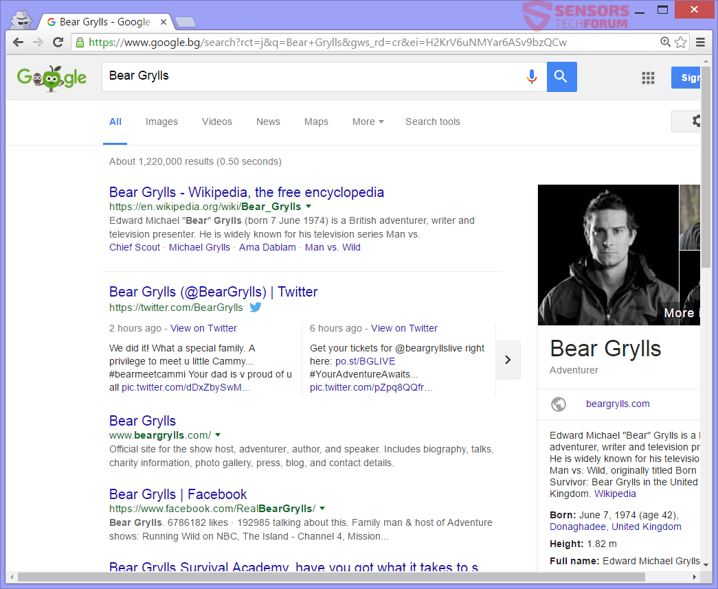 STF-start-pagesearch-com-page-search-browser-hijacker-bear-grylls-google-search-results