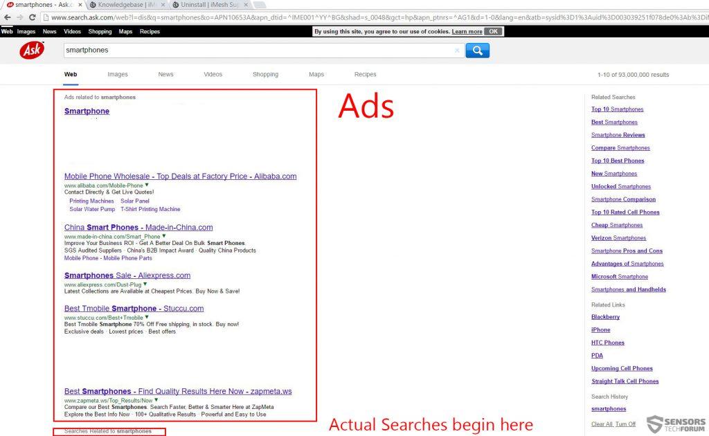 imesh-searches-ads-redirect-ask-com-sensorstechforum
