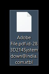 systemdown-ransomware-encrypted-file-xtbl-sensorstechforum