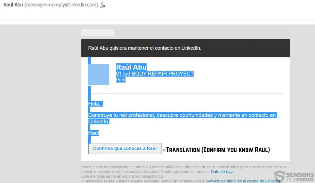 Spam-email-faux-linked-in-spam-sensorstechforum