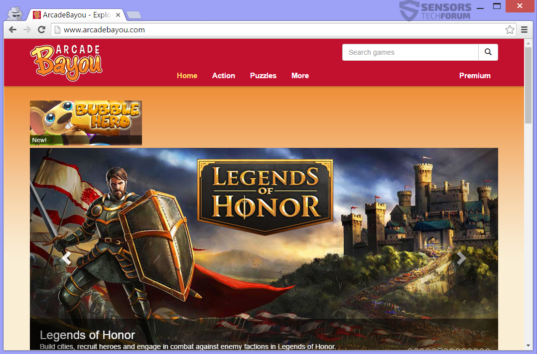 stf-arcadebayou-com-arcade-bayou-adware-ads-main-site-page