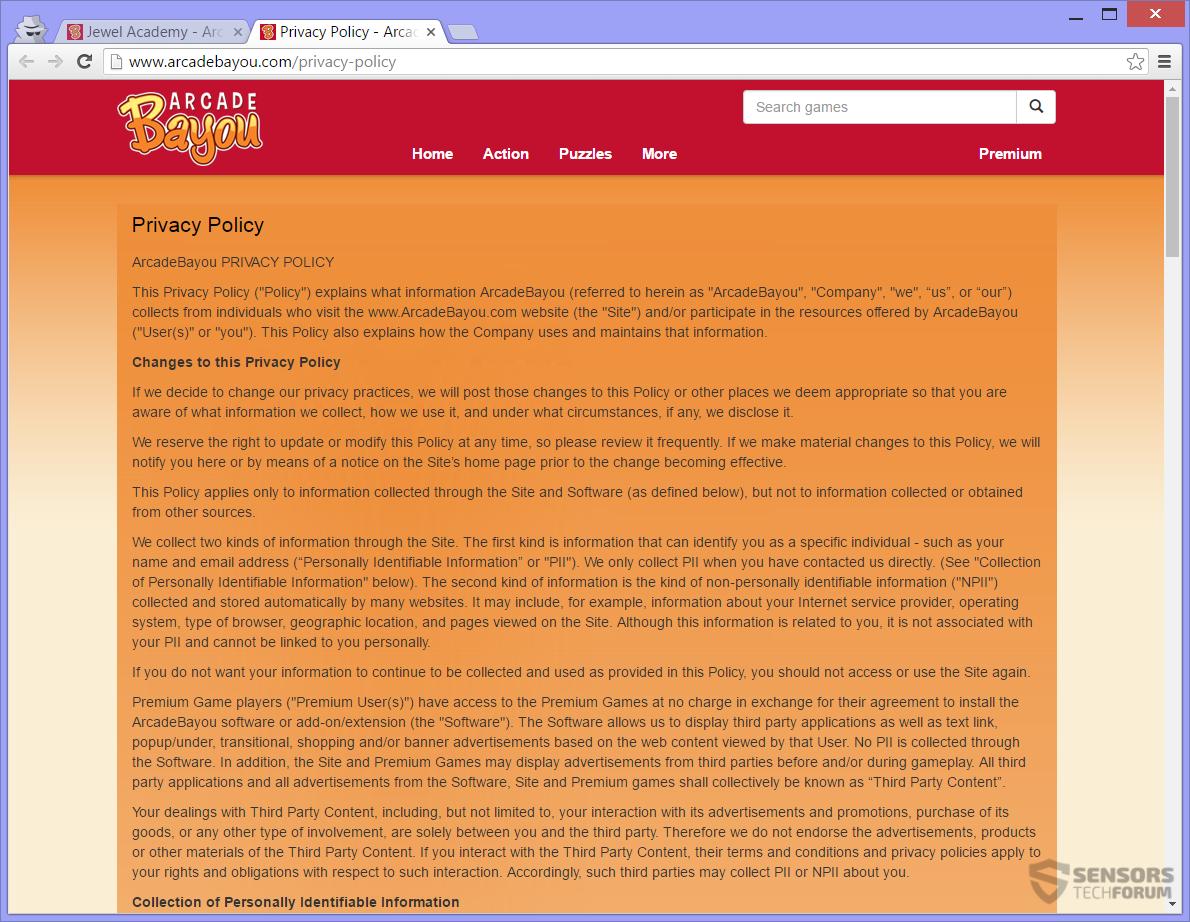 stf-arcadebayou-com-arcade-bayou-adware-ads-privacy-policy