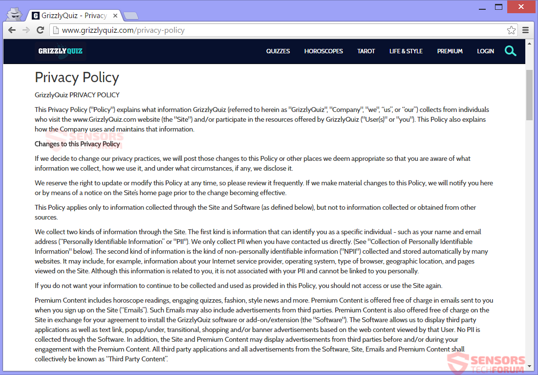 stf-grizzlyquiz-com-grizzly-quiz-adware-ads-privacy-policy