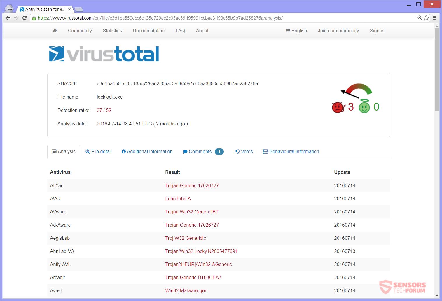 stf-locklock-ransomware-lock-crypto-virus-eda2-sample-detections-virus-total