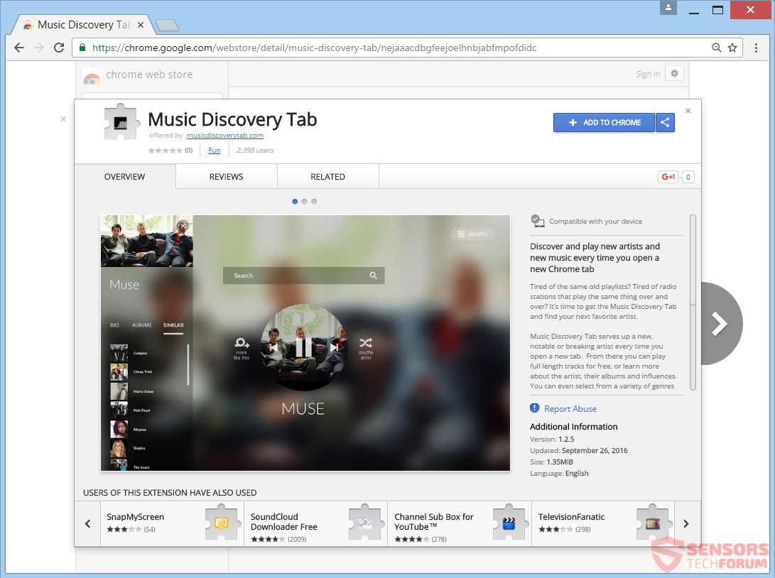 stf-musicdiscoverytab-com-music-discovery-tab-browser-hijacker-redirect-google-chrome-web-store-extension