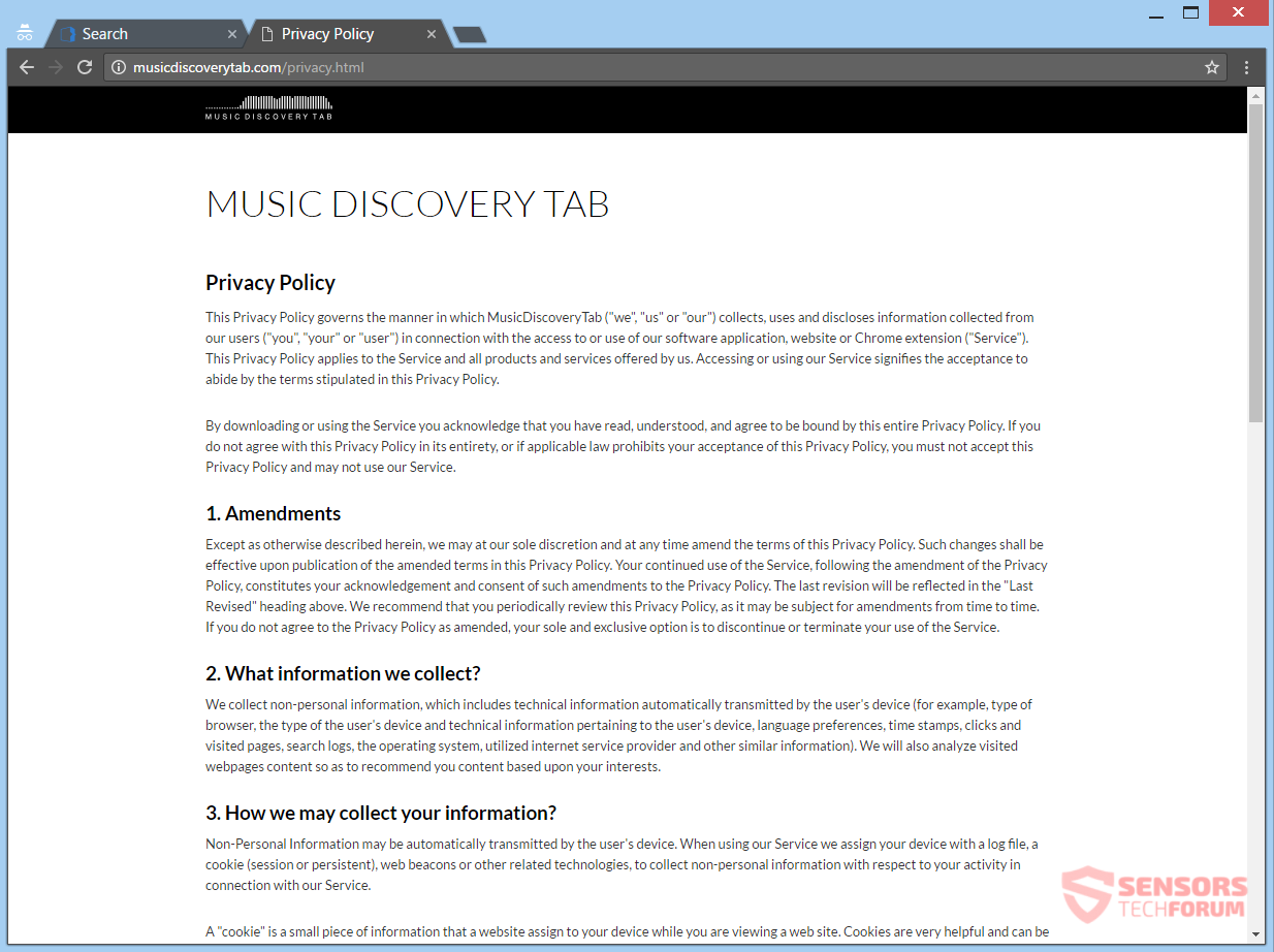 stf-musicdiscoverytab-com-music-discovery-tab-browser-hijacker-redirect-privacy-policy