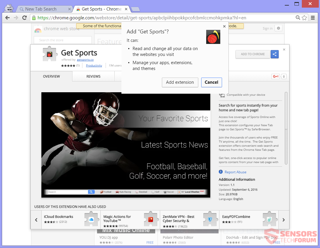 stf-search-getsports-co-get-sports-browser-hijacker-redirect-saferbrowser-safer-browser-google-chrome-web-store-extension