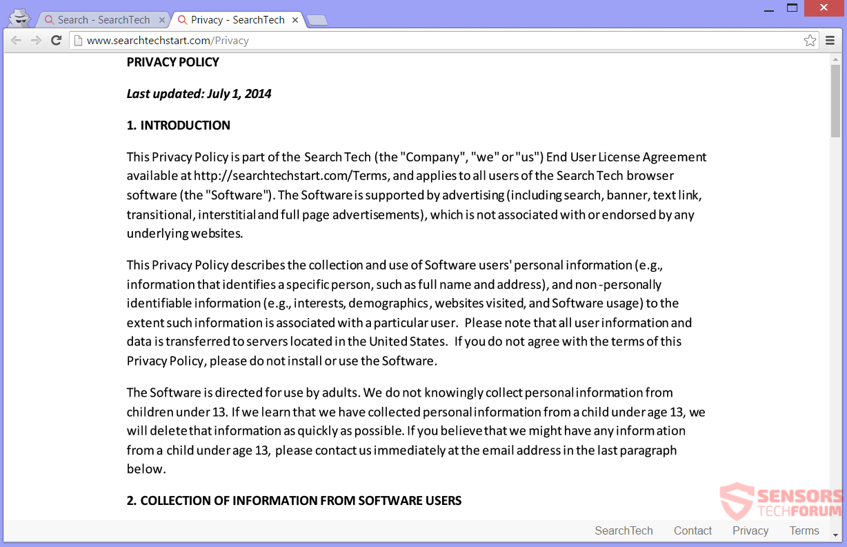 stf-searchtechstart-com-search-tech-start-browser-hijacker-redirect-privacy-policy