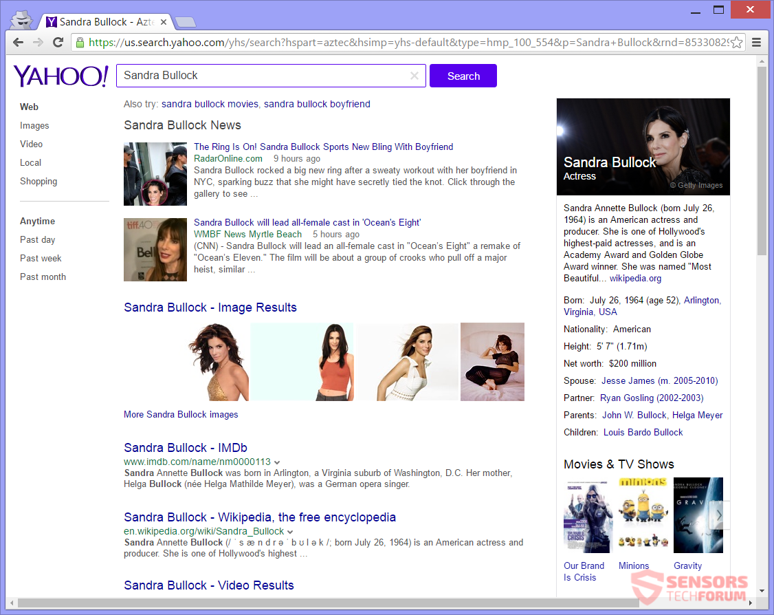 STF-start-prss-to-browser-hijacker-redirect-sandra-bullock-search-results
