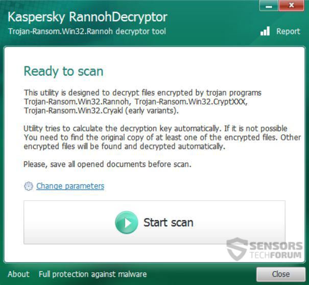 2-start-scan-rannoh-UltraDeCrypter-decryptor-sensorstechforum