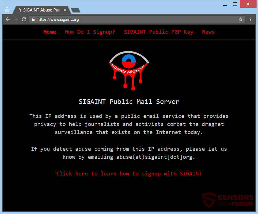 stf-sigaint-public-mail-server-main-site-page