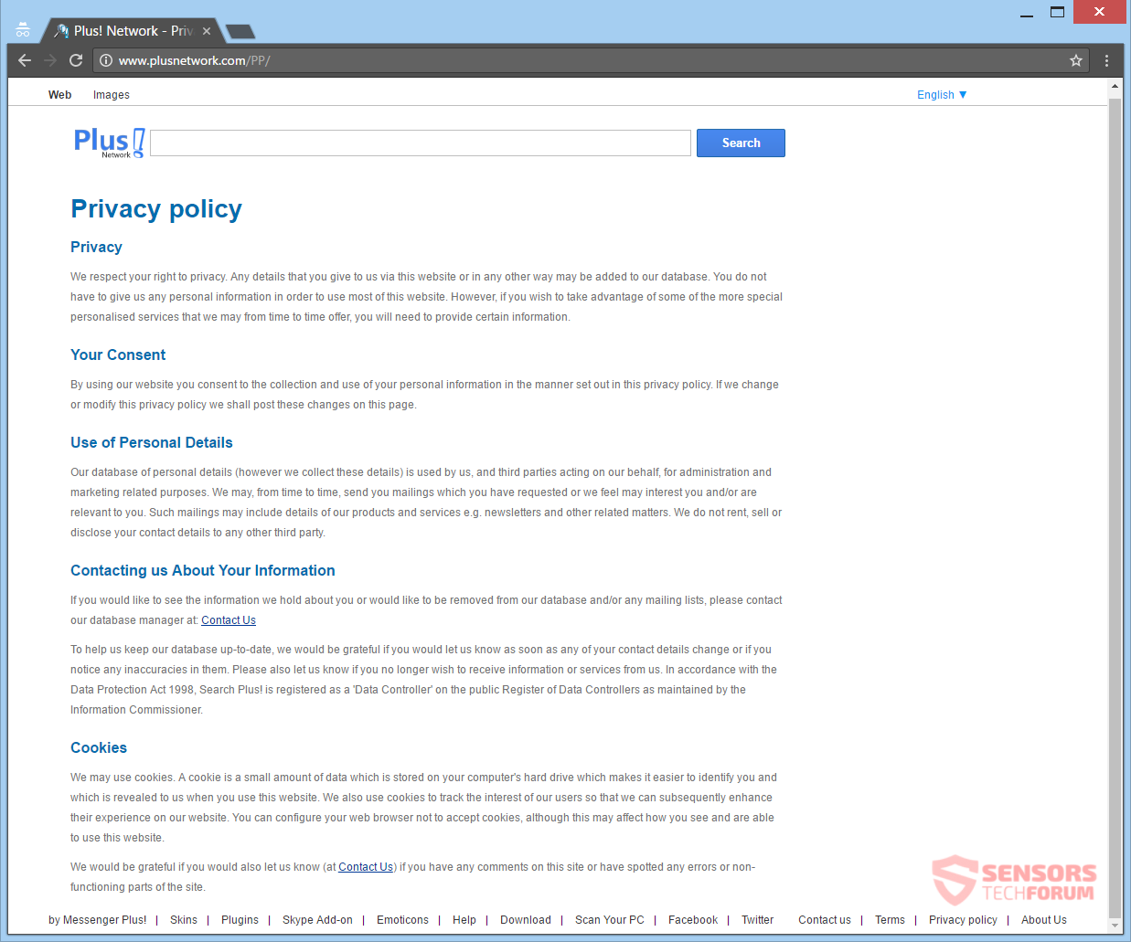 stf-web-start-org-browser-hijacker-redirect-plus-network-privacy-policy