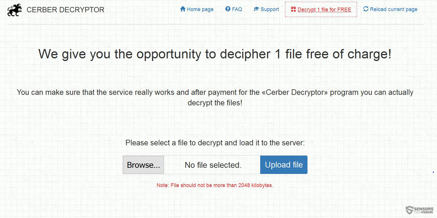 Cerber Ransomware 5.0 Unleashed \u2013 Remove and Restore Files - How ...