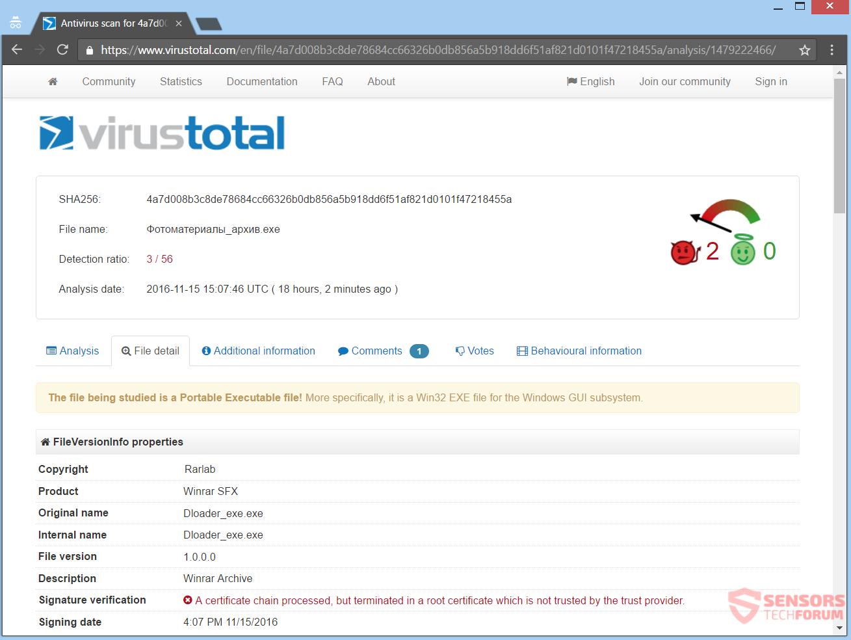 stf-crypton-ransomware-virus-winrar-fake-virus-total-detections