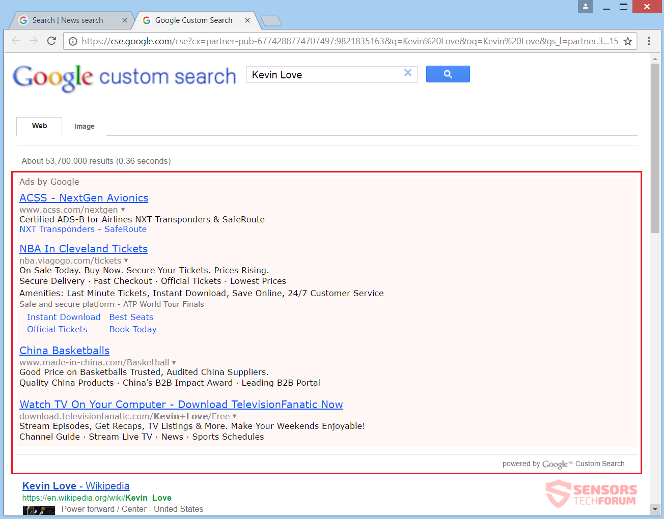 stf-gotosearch-ru-browser-hijacker-go-to-search-redirect-kevin-love-search-results
