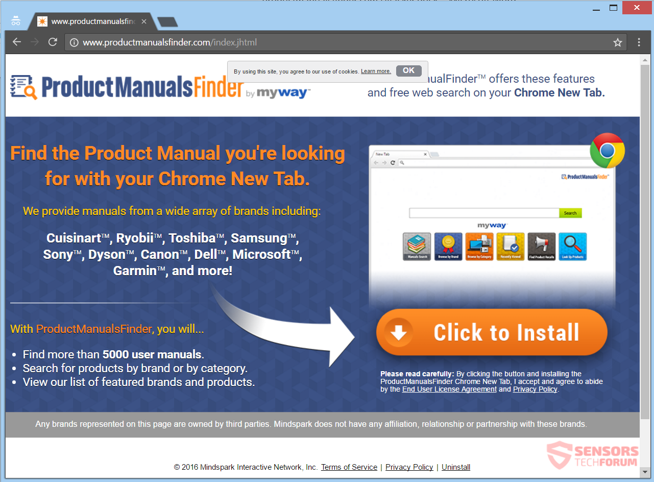 ProductManualsFinder com Redirect Removal - How to, Technology and