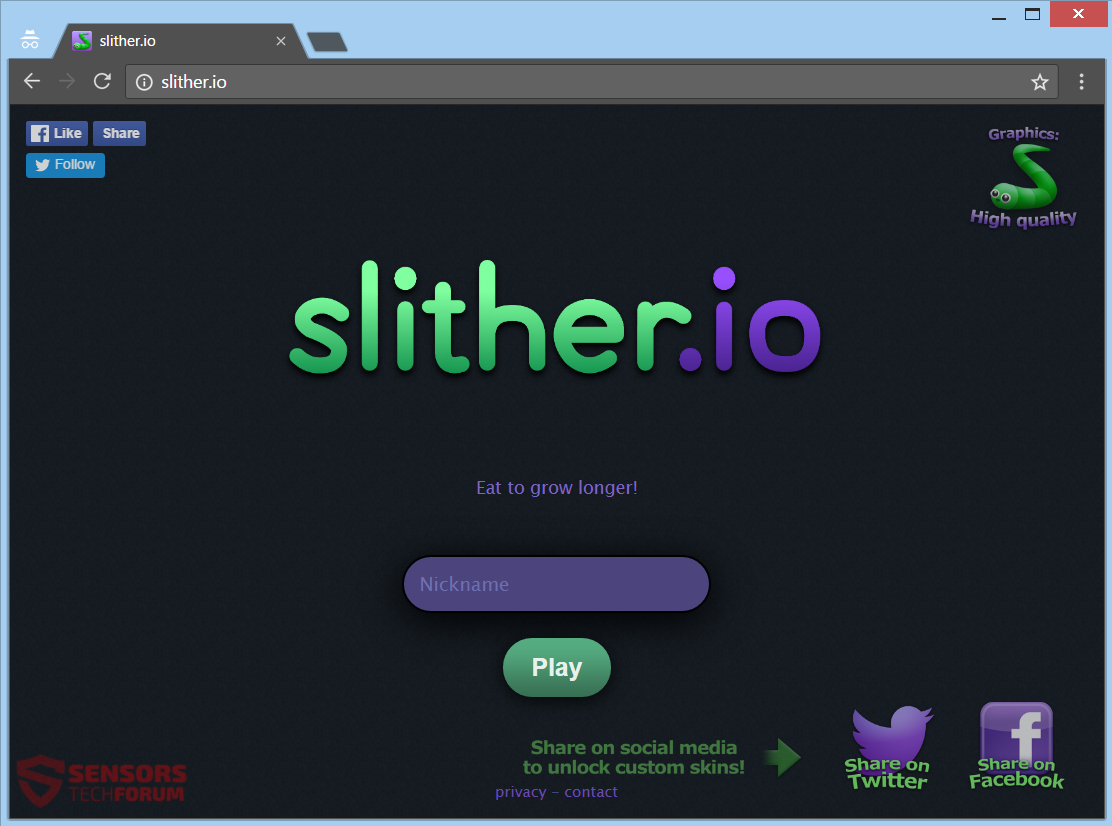 slither io pc
