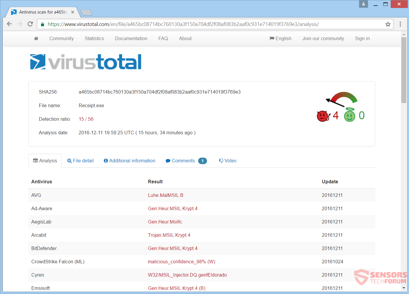 Retire M4N1F3STO ransomware y desbloquear el PC - Cómo, Foro de ...