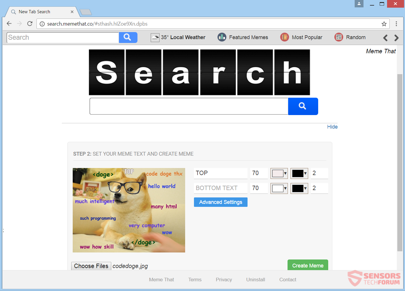 stf-search-memethat-co-meme-that-browser-hijacker-redirect-main-site-page