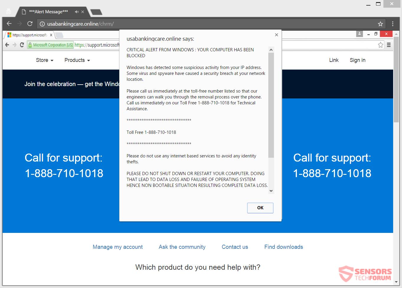 Remove USAbankingCare.online Scam
