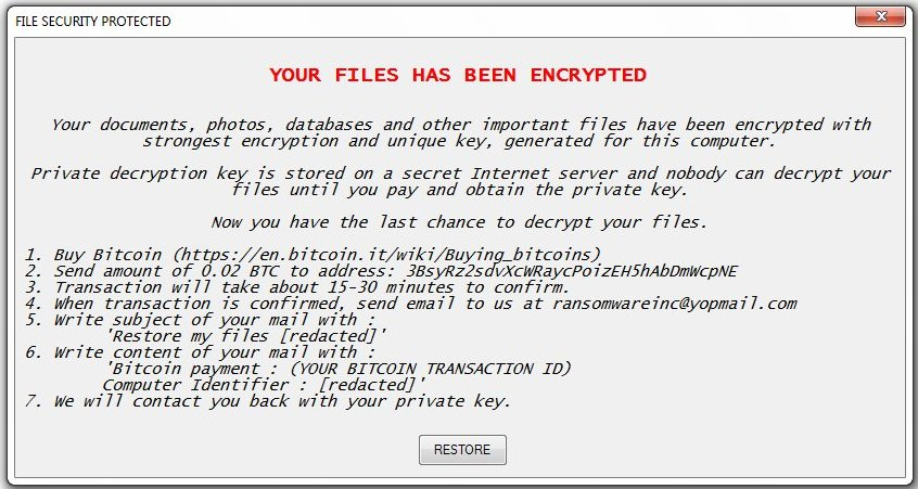Encrypted (Fake Windows Updater) Virus (Restore Files) - How to
