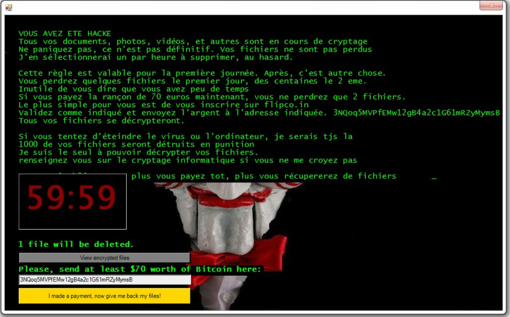 Crypte File Virus (Jigsaw Ransomware) \u2013 Remove It and Restore Files
