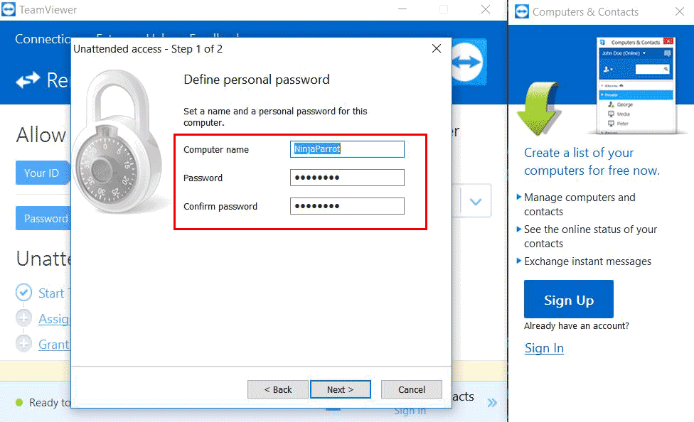 disable teamviewer startup screen