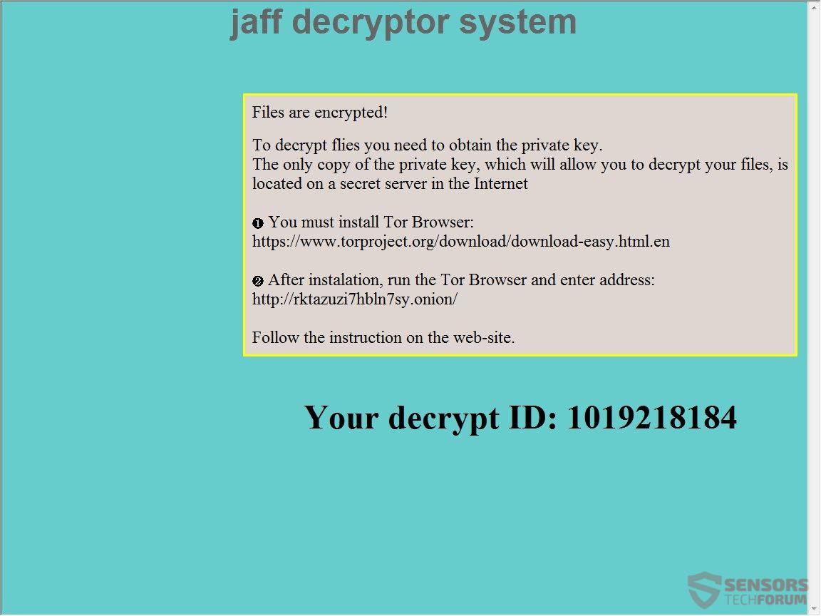 Jaff ransomware - Eliminar y restaurar archivos .Jaff (actualización ...