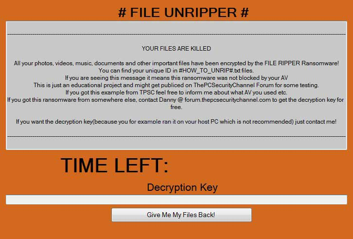 Remove FILE RIPPER Ransomware and Restore .RIP Encrypted ...