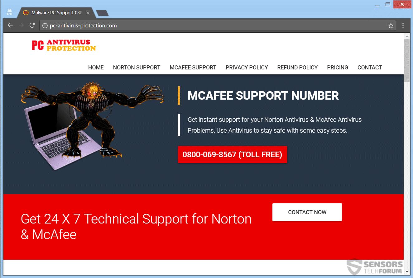 Remove PC-antivirus-protection com Scam