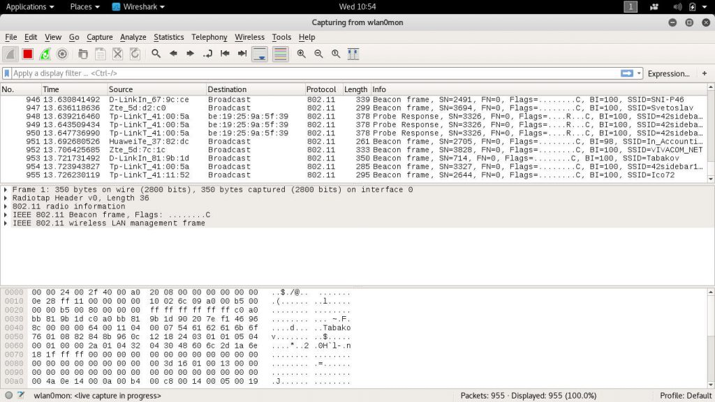 l'image Wireshark capture d'écran