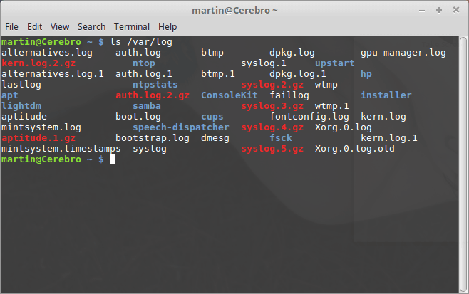 Linux logs screenshot image