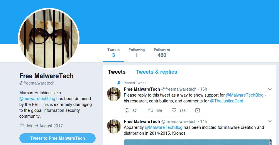 Free MalwareTech Twitter profile campaign image