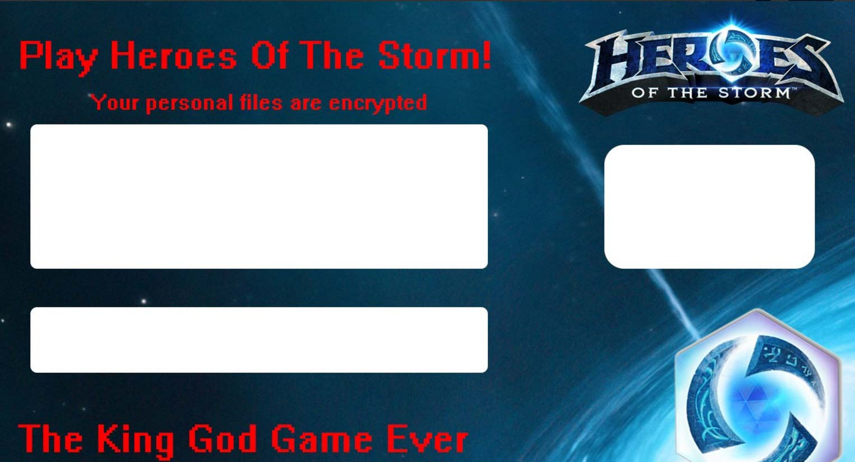 .HeroesOftheStorm file virus ransom note image sensorstechforum