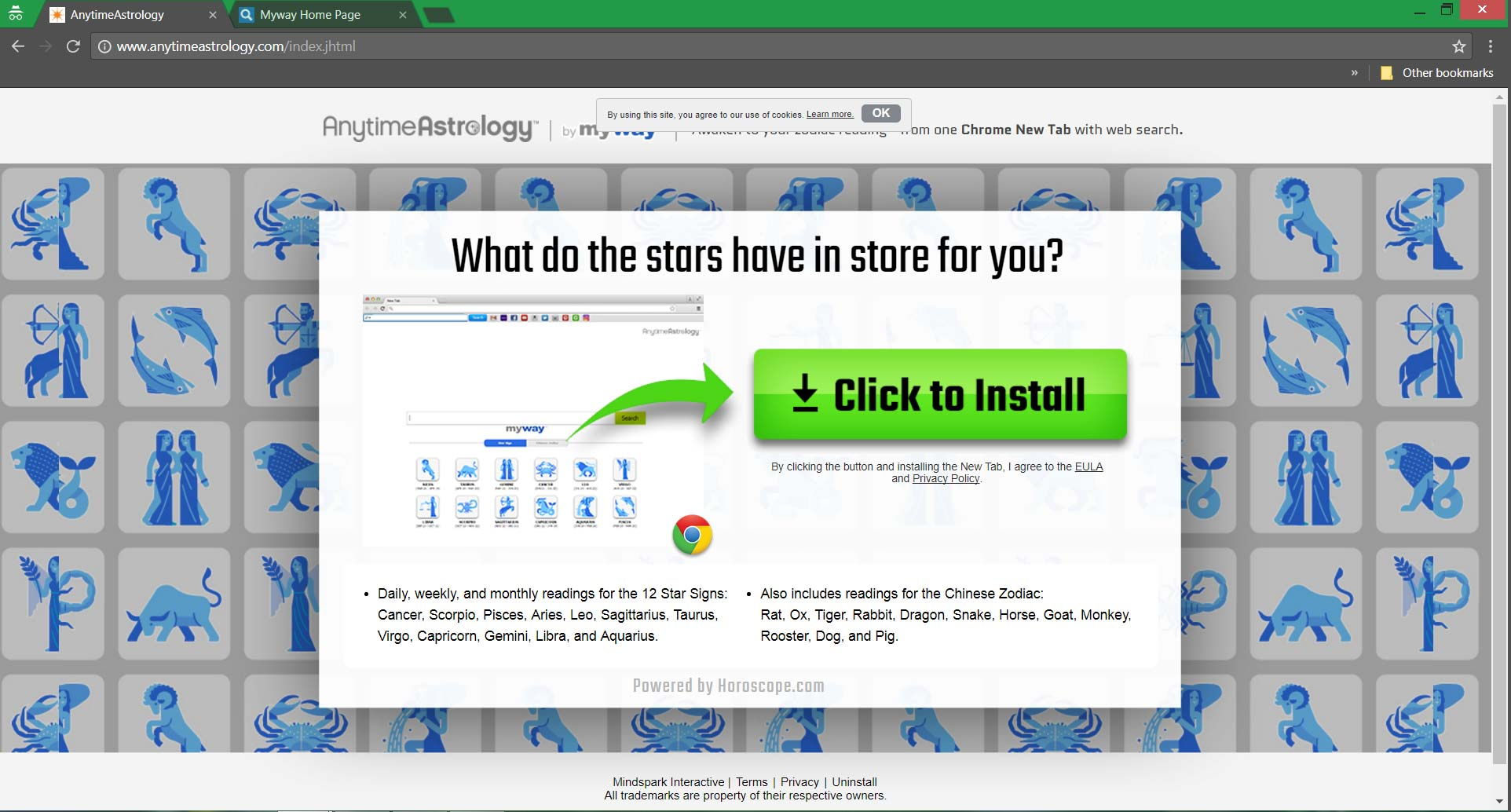anytimeastrology.com browser redirect homepage sensorstechforum