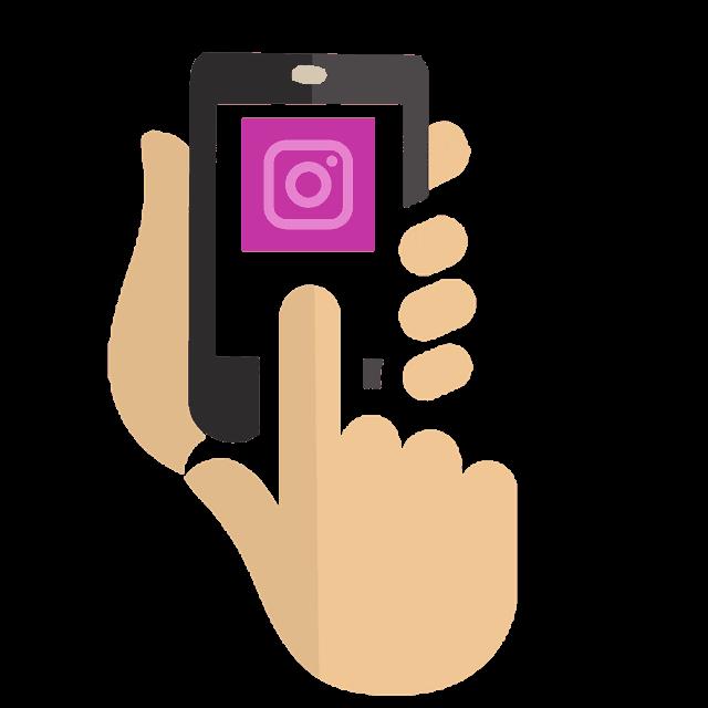 telefono Instagram utilizzando l'immagine