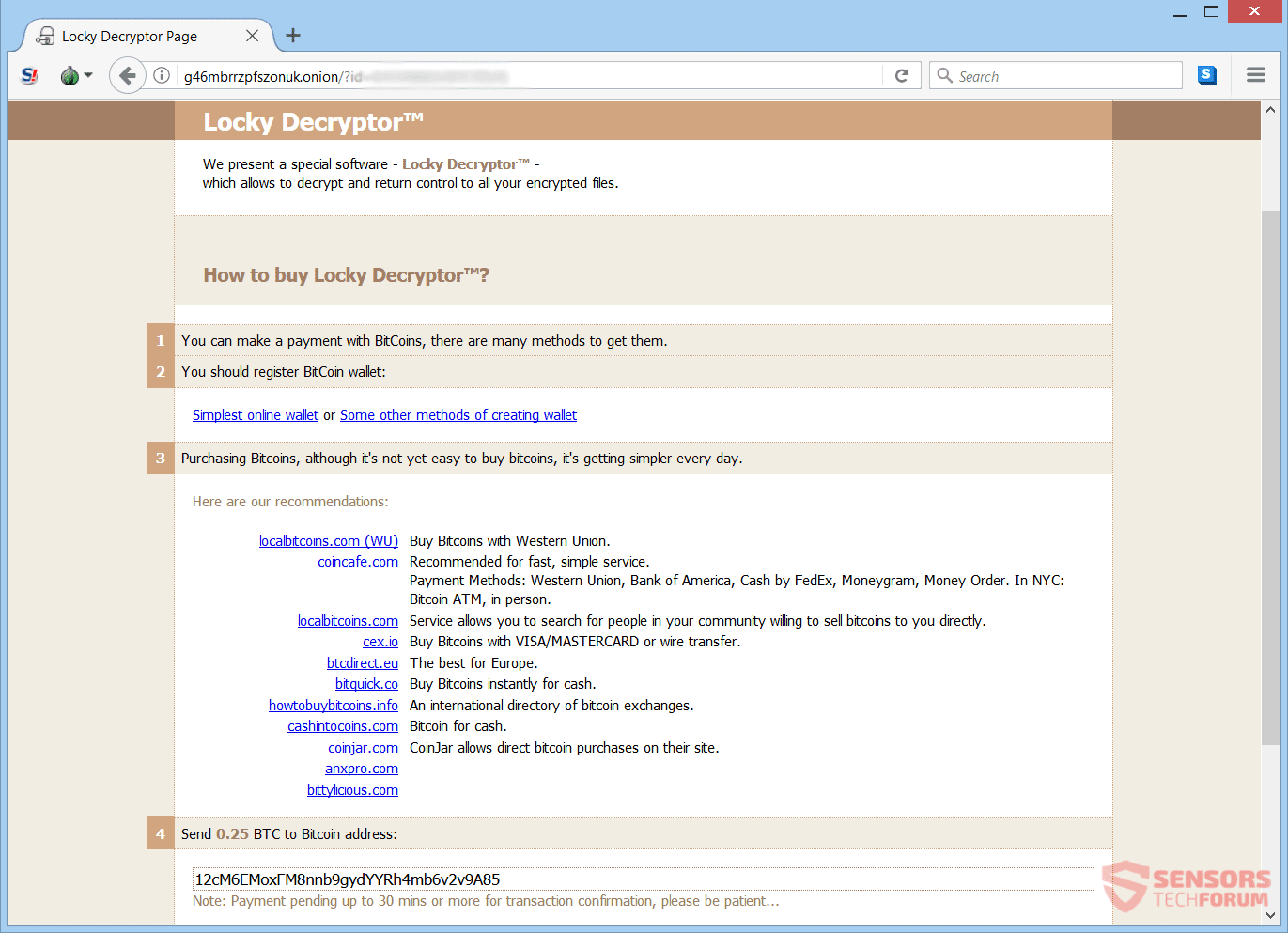 Ykcol archivo de virus (Locky) - Quitarlo y restaurar los archivos