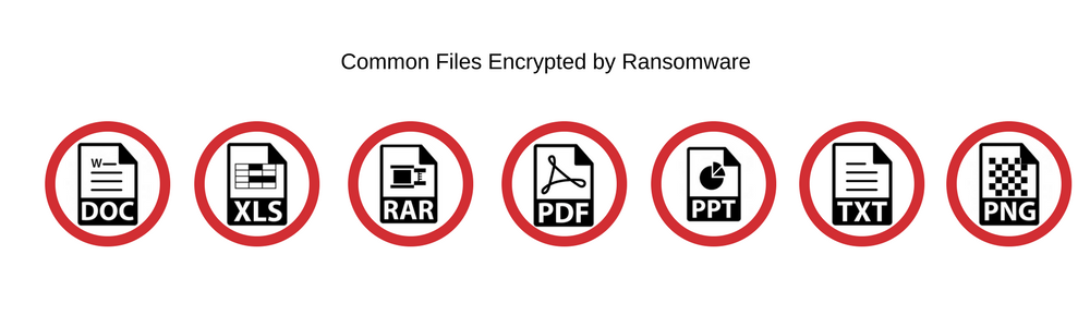 Common Files Encrypted by Ransomware sensorstechforum