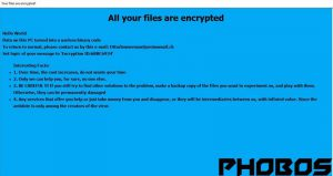 PHOBOS Ransomware - Remove + How to Restore .PHOBOS Files