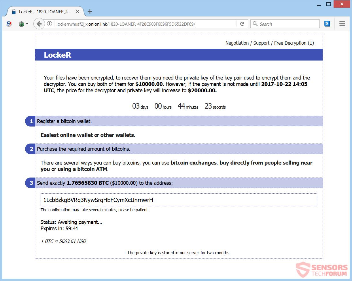 Retire taquilla ransomware - Restaurar archivos
